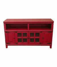 "Hacienda 60"" Rustic Antique Red PlasmaTV Stand"