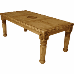 Hacienda Rope Rustic Table W/ Star