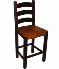 Hacienda Rustic Barstool W/ Leather Seat