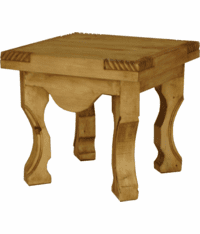 Hacienda Rustic End Table
