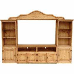 Hacienda Rustic Pine Entertainment Center