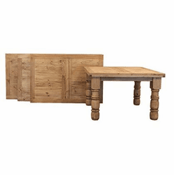 Hacienda Rustic Square Table 48""