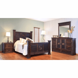 Hacienda Rustic Star Bedroom Set