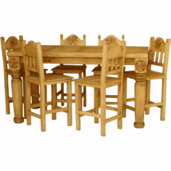 Hacienda Star Gathering Wood Dining Table Set