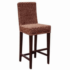 Handwoven Seagrass Bar Stool With Back