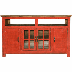 "Hidago Rustic Red 60"" TV Stand"