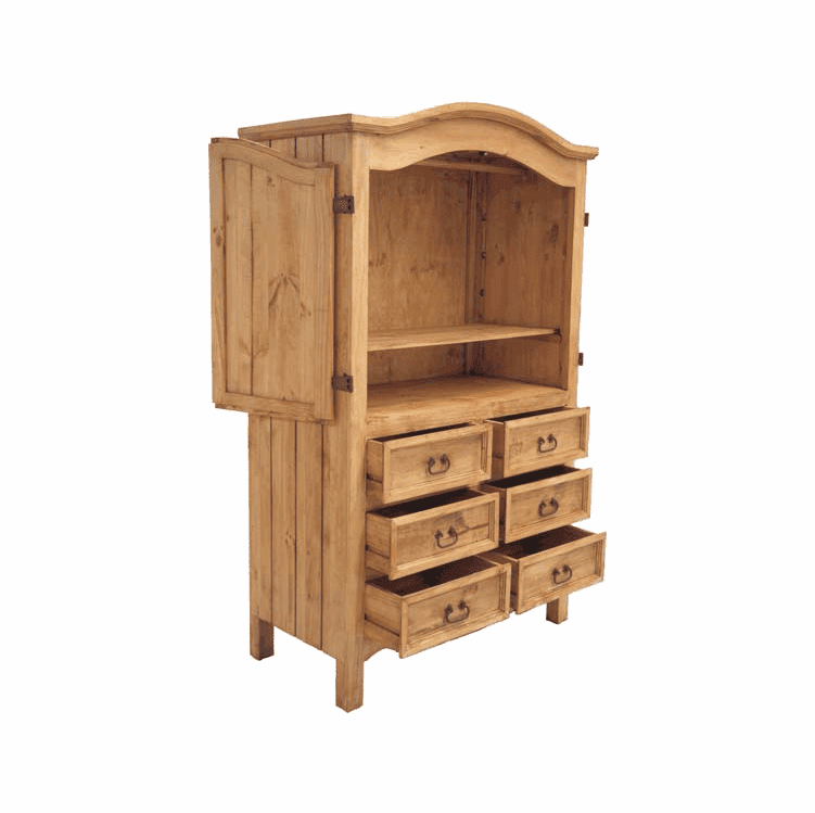 Hidalgo 6 Drawer Pine Armoire
