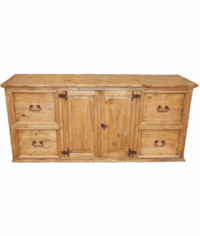 Hidalgo Office Rustic Credenza With File Cabinets