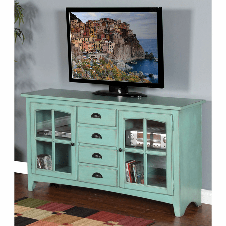Robinu0027s Egg Blue TV Console, Robinu0027s Egg Blue Tv Stand, Egg Blue TV Console