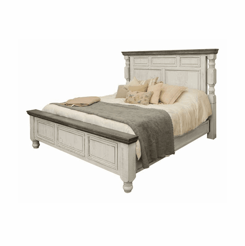 La Paz Rustic Two-Tone Bed Frame King