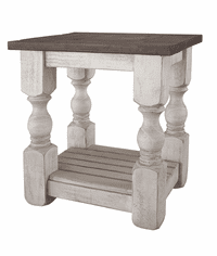 La Paz Rustic Two-Tone End Table