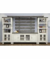 La Paz Rustic Two Tone Entertainment Wall Unit