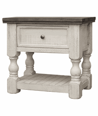 La Paz Rustic Two-Tone Nightstand
