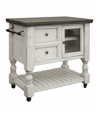 La Paz Two-Tone Rustic Kitchen Cart