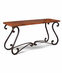 Laredo Copper Console Table 65""