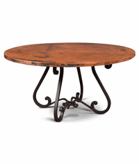 Laredo Copper Round Dining Table 60""