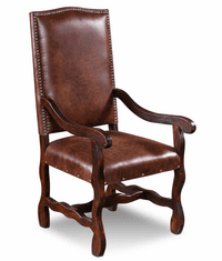 Laredo Leather Arm Dining Chair