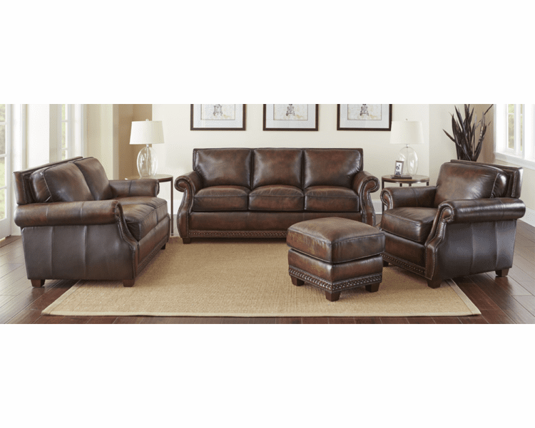 Leather Sofa Set Rustic