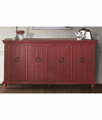 Laredo Red Console Table 73""