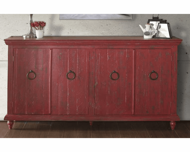 Red Console Table Sofa With Doors