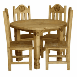 Laredo Round Star Dining Table Set