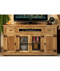 "Laredo Rustic 63"" TV Stand with 2 Drawers"