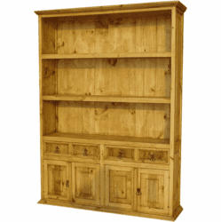 Laredo Rustic Wood Bookcase