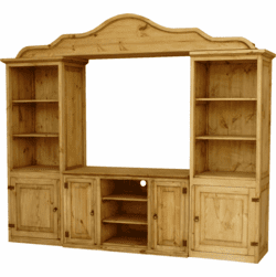 Laredo Rustic Wood Wall Unit