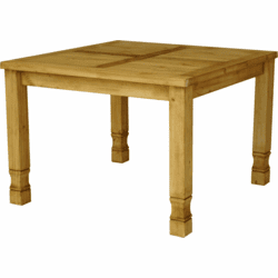 Laredo Rustic Square Pine Dining Table