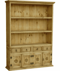 Laredo Wood Bookcase w/ Stars