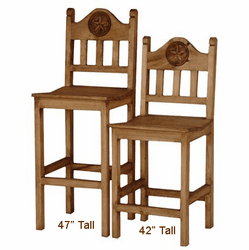 Lone Star Wood Bar Stool