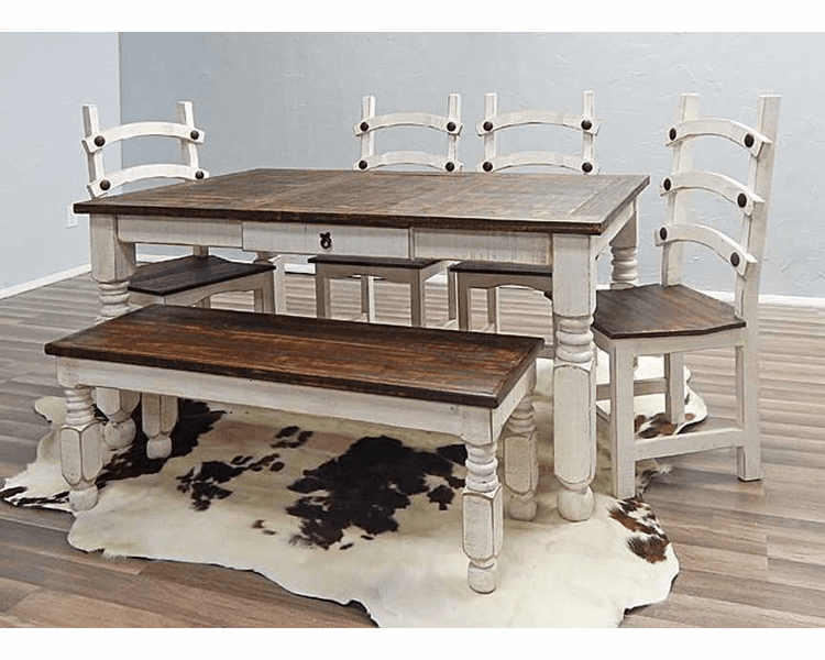 Pleasant White Dining Table Set Rustic White Dining Table Set Dining Andrewgaddart Wooden Chair Designs For Living Room Andrewgaddartcom