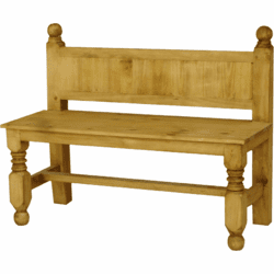 Lyon Wood Bench With Back 45""