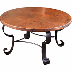 Mallorca Round Copper Coffee Table