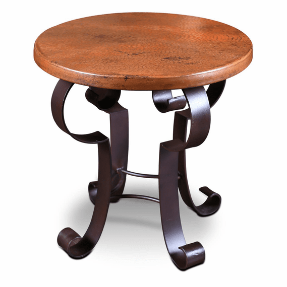Copper Side Table Round Copper Side Table