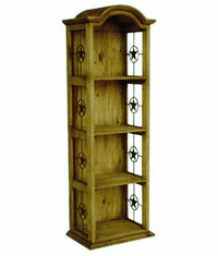 Mansion Pine Narrow Bookcase W/ Stars