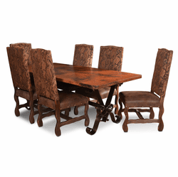 Merida Copper Dining Table Set