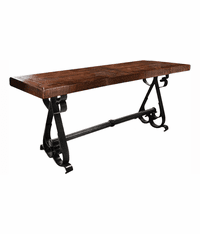 "Merida Rustic 72"" Server W/ Metal Base"