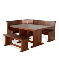 Modesto Corner Breakfast Nook Set
