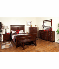 Modesto Rustic Mahogany Bedroom Set