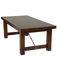 Modesto Rustic Mahogany Dining Table