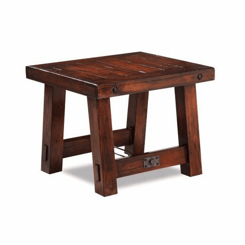 Modesto Rustic Mahogany End Table
