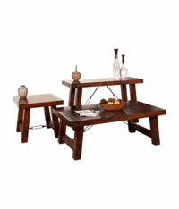 Modesto Rustic Mahogany Occasional Table Set
