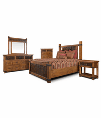 Montana Cabin Rustic Bedroom Set
