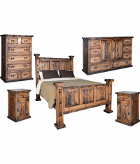Old West Oasis Rustic Bedroom Set