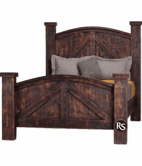 Old West Ranch Mansion Bed Frame