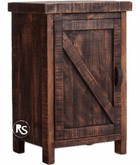 Old West Ranch Night Stand W/ Cabinet