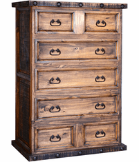 Old West Rustic 5 Drawer Chest