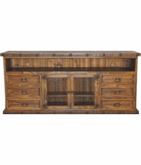 "Old West Rustic 80"" TV Stand"