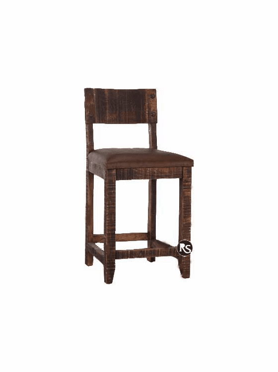 Old West Rustic Bar Stool